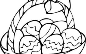 easter basket with eggs coloring page easter egg u2013 the wayne stater