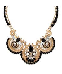 black white crystal necklace images Palmbeach jewelry black and white crystal antiqued gold tone jpeg