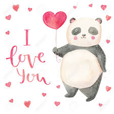 you it you buy it s day heart illustration panda with hearts card for s day