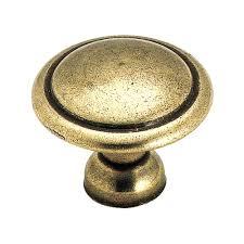 home depot brass kitchen cabinet handles amerock 1 3 8 in light antique brass cabinet knob 848lb the home depot