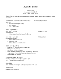 physical therapist sample resume show me an example of a resume free resume example and writing resume objective examples 04