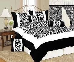 Fur Bed Set White Tiger Skin Print Micro Suede Short Faux Fur Comforter Set