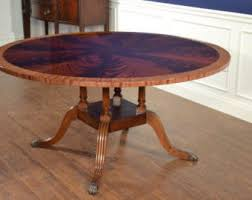 antique round dining table mahogany table etsy