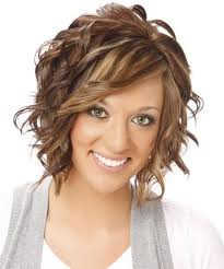hair styles for protruding chin medium wavy formal hairstyle with side swept bangs medium