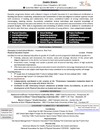 Best Master Teacher Resume Example by Download Physical Education Teacher Resume Haadyaooverbayresort Com