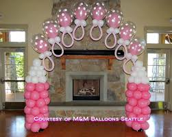 baby bottle centerpieces adorable baby shower balloon decorating