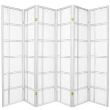 Room Dividers At Home Depot - 6 ft white 6 panel room divider cdblx 6p wht the home depot