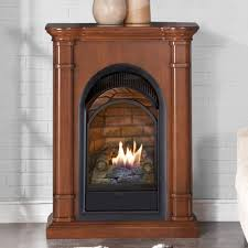 Dual Gas And Wood Burning Fireplace by Duluth Forge Dual Fuel Ventless Natural Gas Propane Fireplace