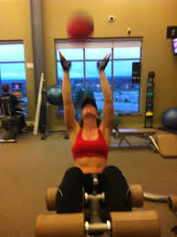medicine ball incline ab crunches red fox fitness