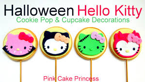 Halloween Kitty by Halloween Hello Kitty Cookie Pops U0026 Cupcake Toppers How To Based