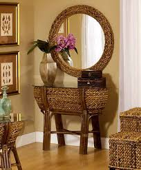Rattan Accent Table Maui Wicker Accent Furniture Items By Seawinds Trading