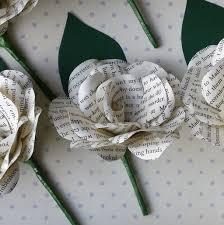 paper flower harry potter book paper flower buttonhole boutonniere