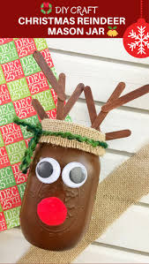 diy christmas reindeer mason jar onion rings u0026 things