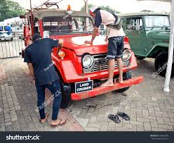 land cruiser vintage jakarta indonesia april 30 2017 two stock photo 635843633