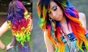 rainbow color hair ideas 20 bright red hairstyles that sizzle of rainbow ombre hair color