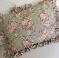 Shabby Chic Pillow Shams by Vintage Ralph Lauren Pillow Shams Ruffled By Purpleflowerfairy