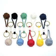 nautical colors monkey fist key chain traditional nautical colors mystic knotwork