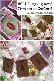 how to make a christmas garland decoration from vintage playing
