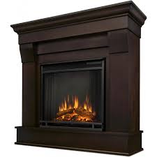 real flame chateau 40 inch electric fireplace with mantel dark