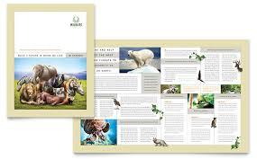 zoo brochure template nature wildlife conservation brochure template design