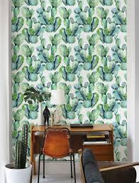 self adhesive removable wallpaper cactus wallpaper by livetteskids