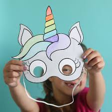 Where To Print Edible Images Unicorn Masks To Print And Color Free Printable Unicorn Mask