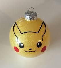 inspired pikachu glitter ornament 3 25 glass