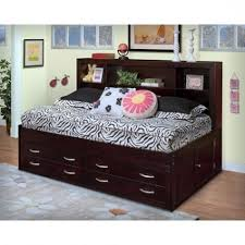 bedroom full size storage bed with bookcase headboard regard to