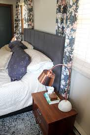 Curtains For Headboard How To Mount A Headboard With Space For Curtains Bright Green Door