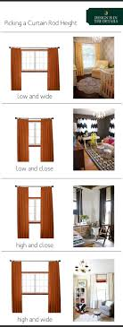 Hanging Curtains High And Wide Designs Curtain Rod Height The Anatomy Of Design