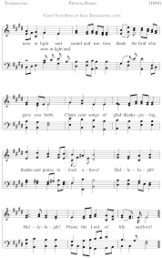 song of praise and thanksgiving index of available music