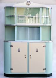 lovely blue and white colors for retro cabinets with white doors