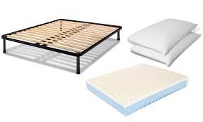cuscini a materasso materasso rete a doghe e 2 cuscini groupon goods
