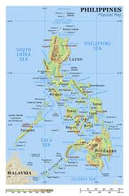 Asia Physical Map Physical Map Of Philippines Philippines Asia Mapsland Maps