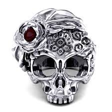 evbea skull ring for and style jewelry biker