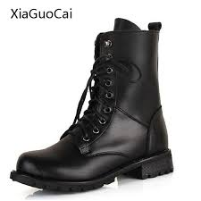 buy combat boots womens aliexpress com buy black mid calf boots fashion