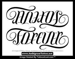 family forever ambigram tattoos design tattooshunt com