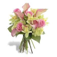 orchid bouquet pink calla and orchid bouquet flowermart florist floral shop