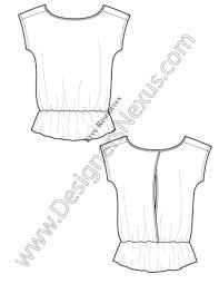 v8 knit t shirt tunic template free illustrator fashion flat