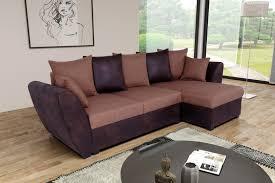 canap brun canapé d angle fixe réversible contemporain en tissu brun clarissa