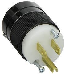 marinco 5266 15 amp 125 volt 2 pole 3 wire straight blade plug