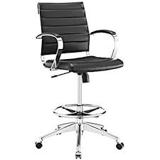 amazon com modway project drafting chair in black reception