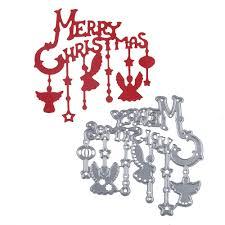 online shop diy merry christmas frame metal stencil embossing