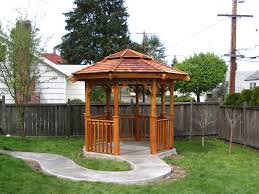 Great Small Backyard Ideas by Small Nice Backyard Gazebos Landscapes That Has Green Grass Can