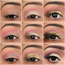 how to do gold glitter eye makeup tutorial indian beauty touch
