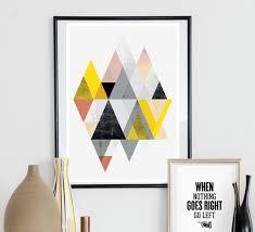 geometric abtract print minimalist poster scandinavian design