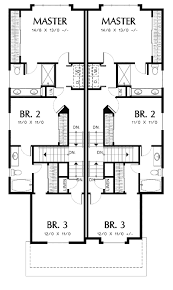 T Shaped House Floor Plans Plan 69243am T Shaped Staircase In Cottage Duplex Staircases