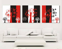 compare prices on black white and red abstract art online