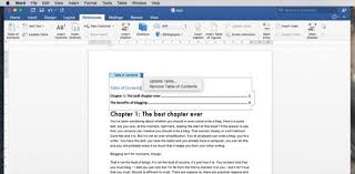 How To Do A Table Of Contents Pointers Make A Table Of Contents In Word 2016 Mar 21 Macnn