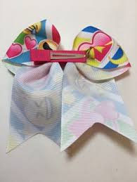 ribbon for hair that says gymnastics clip in gymnastic hair bows